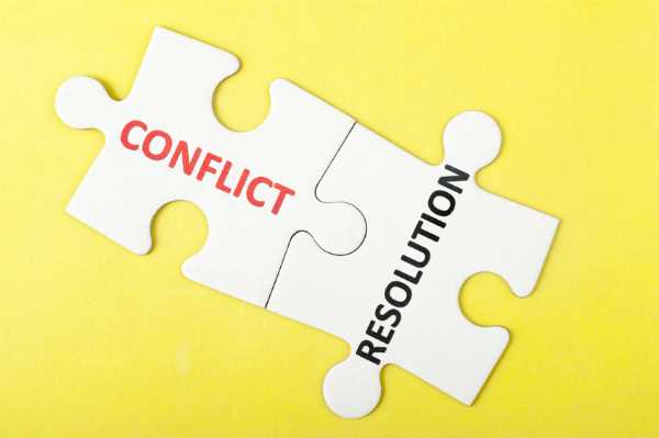 Conflict and Resolution puzzle pieces