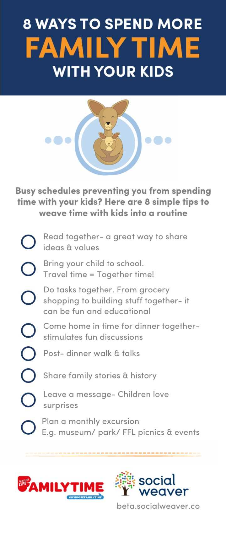 Download this useful tips list below ways to spend more family time with  the kids! 82b500acd