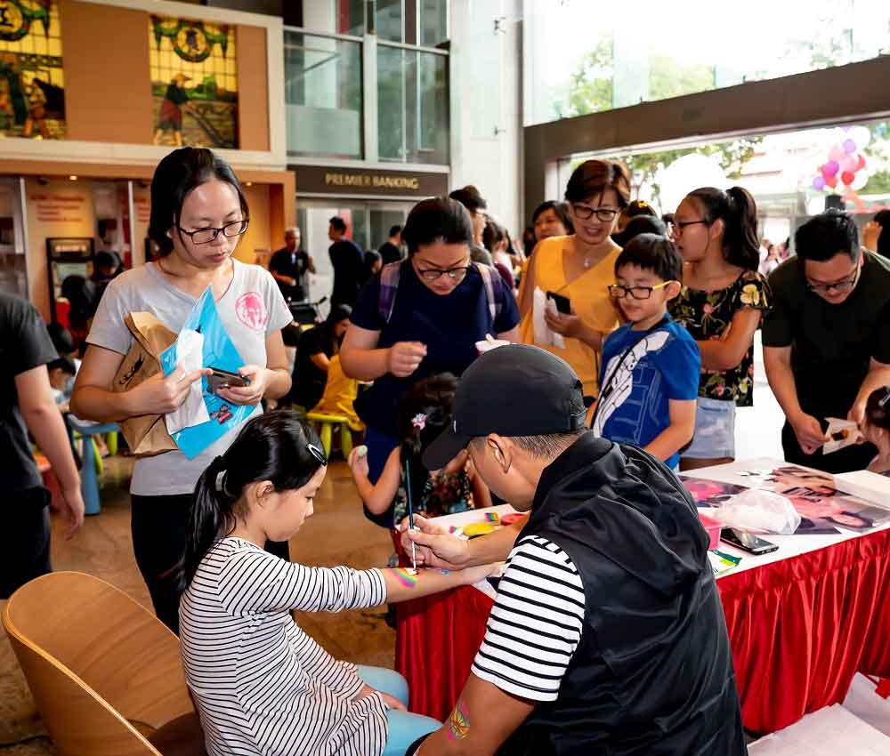OCBC Bank Family Day event at OCBC Centre in support of My Family Weekend Fun Day on 2 Sep 2018