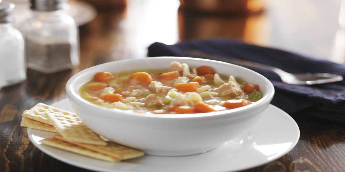 10-Minute Chicken Macaroni Soup | Families for Life