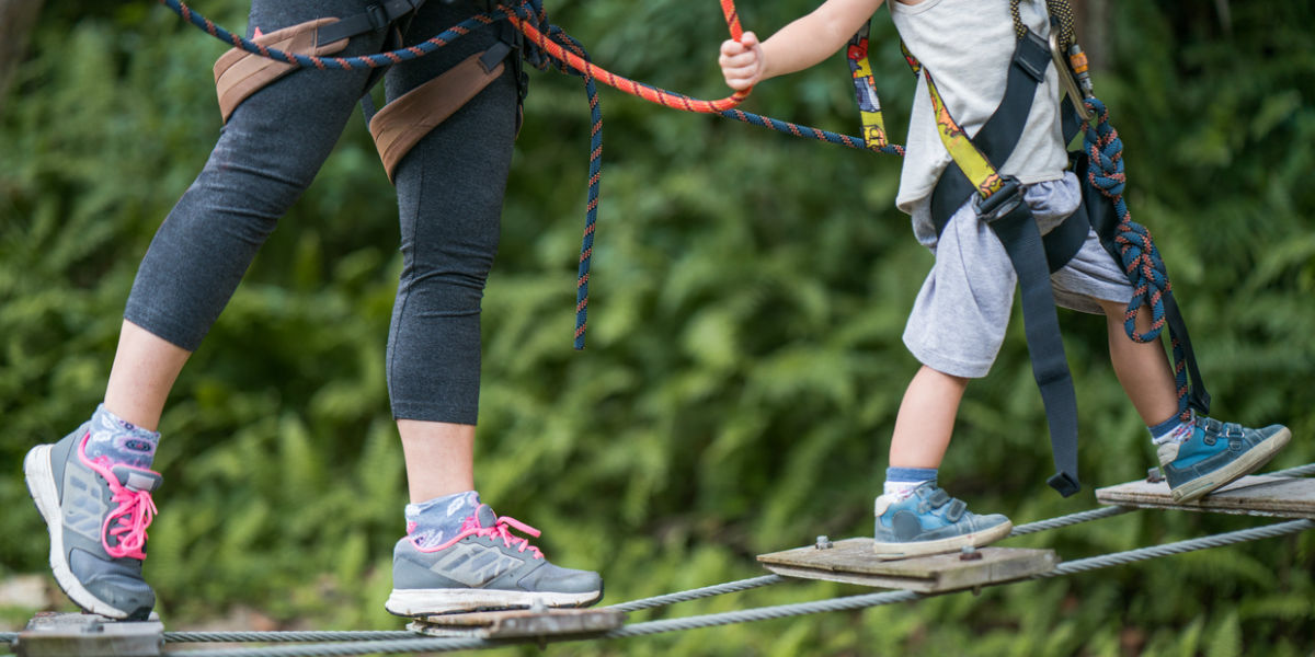 Parent and Child on Canopy Walk