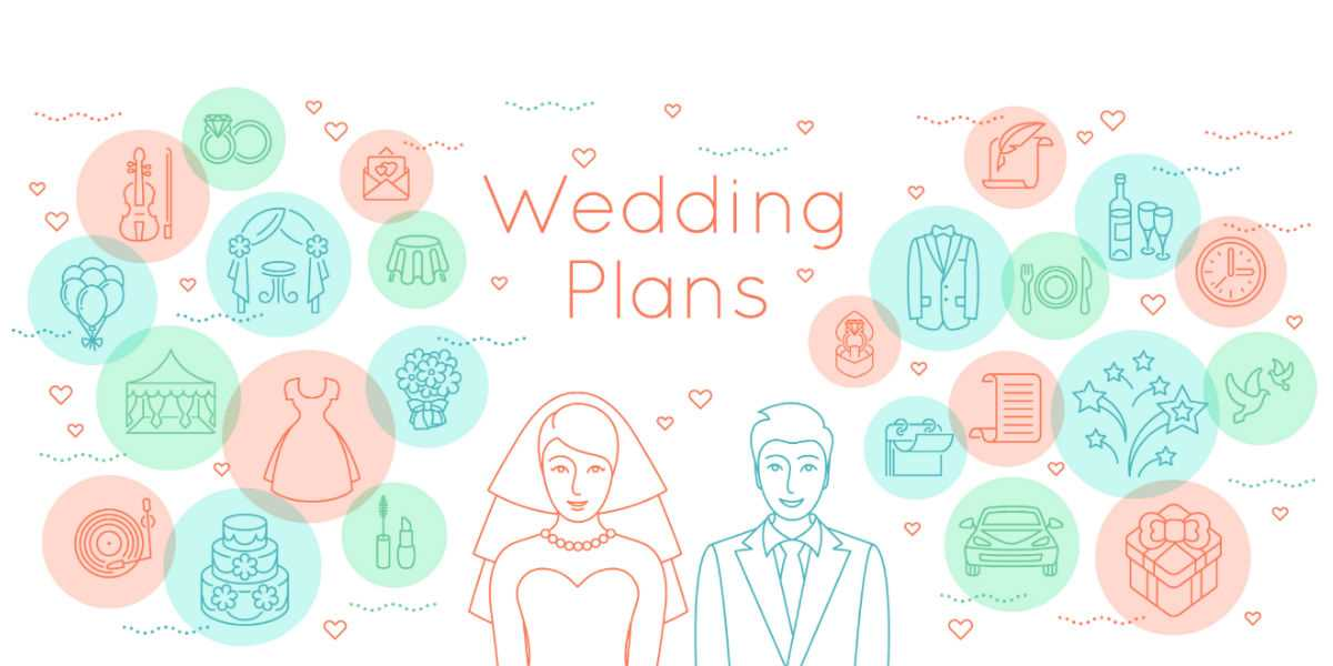 Graphic of wedding planning