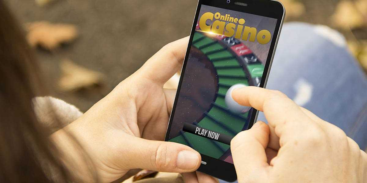 Casino app on a mobile phone