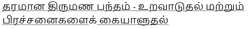 F365 Tamil Marriage Talk Title