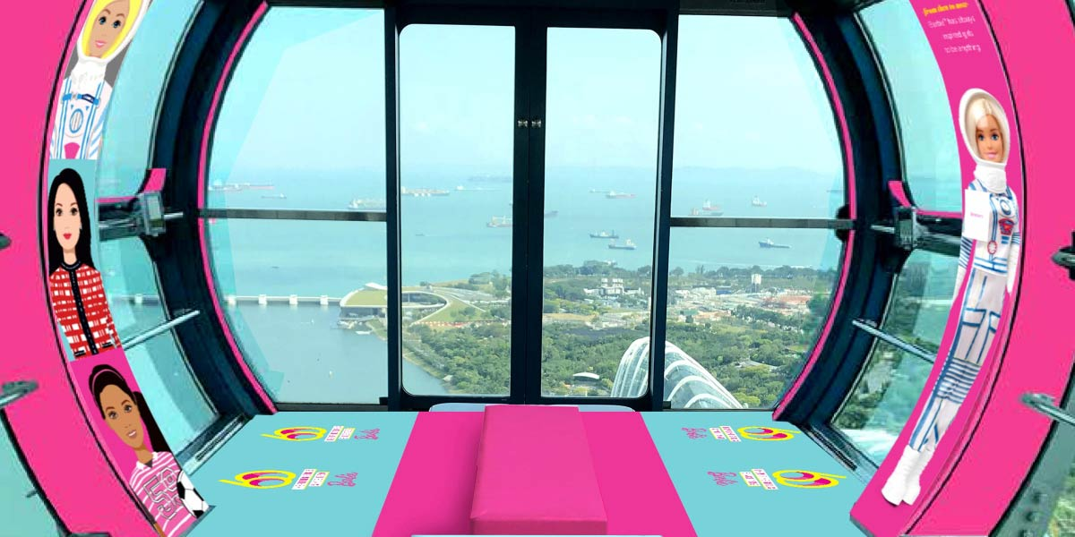 Barbie Flight at the Singapore Flyer