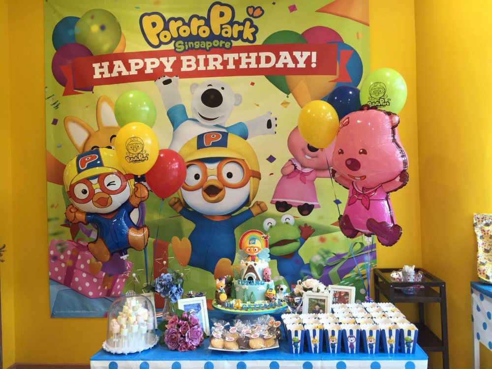 You Can Also Arrange To Celebrate Your Childs Birthday Party At Pororo Park Their Packages Offer Food And Drinks Themed Decorations