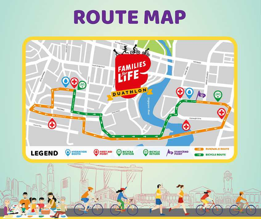 Families for Life Duathlon route map