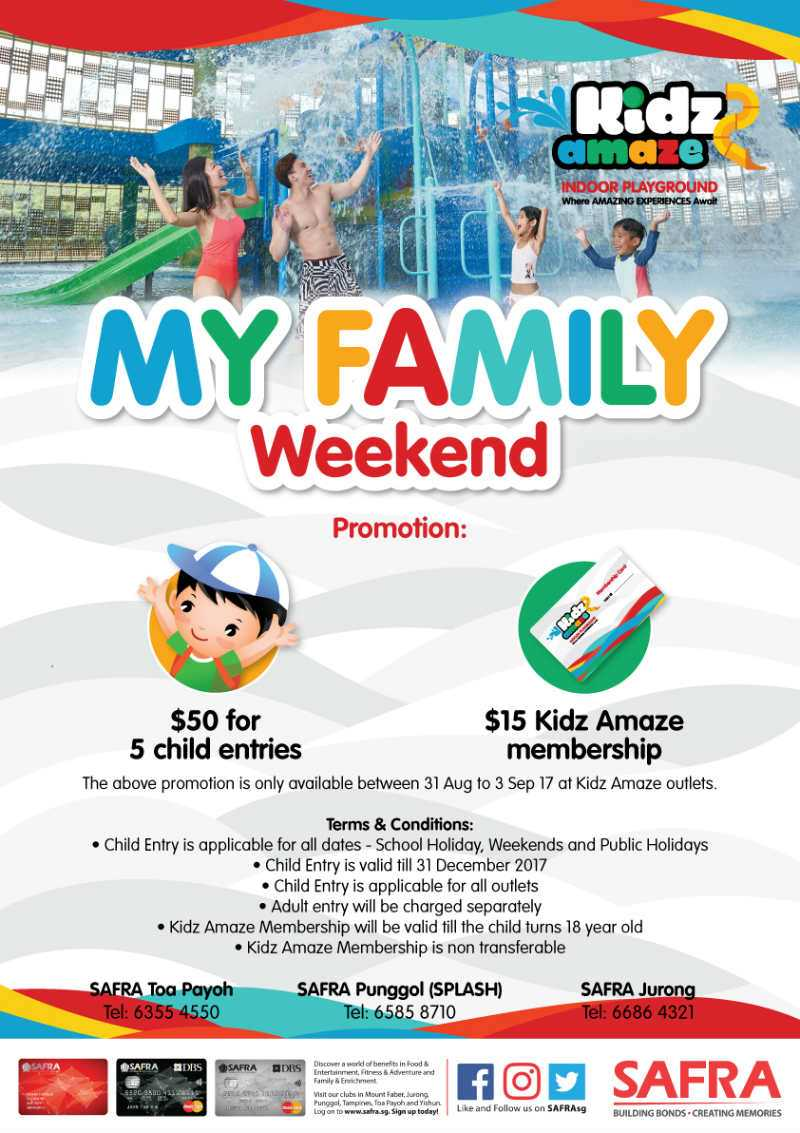 My Family Weekend 2017 Families For Life Voucer 3second 30 Persen Kidz Amaze Mfw Promo Poster