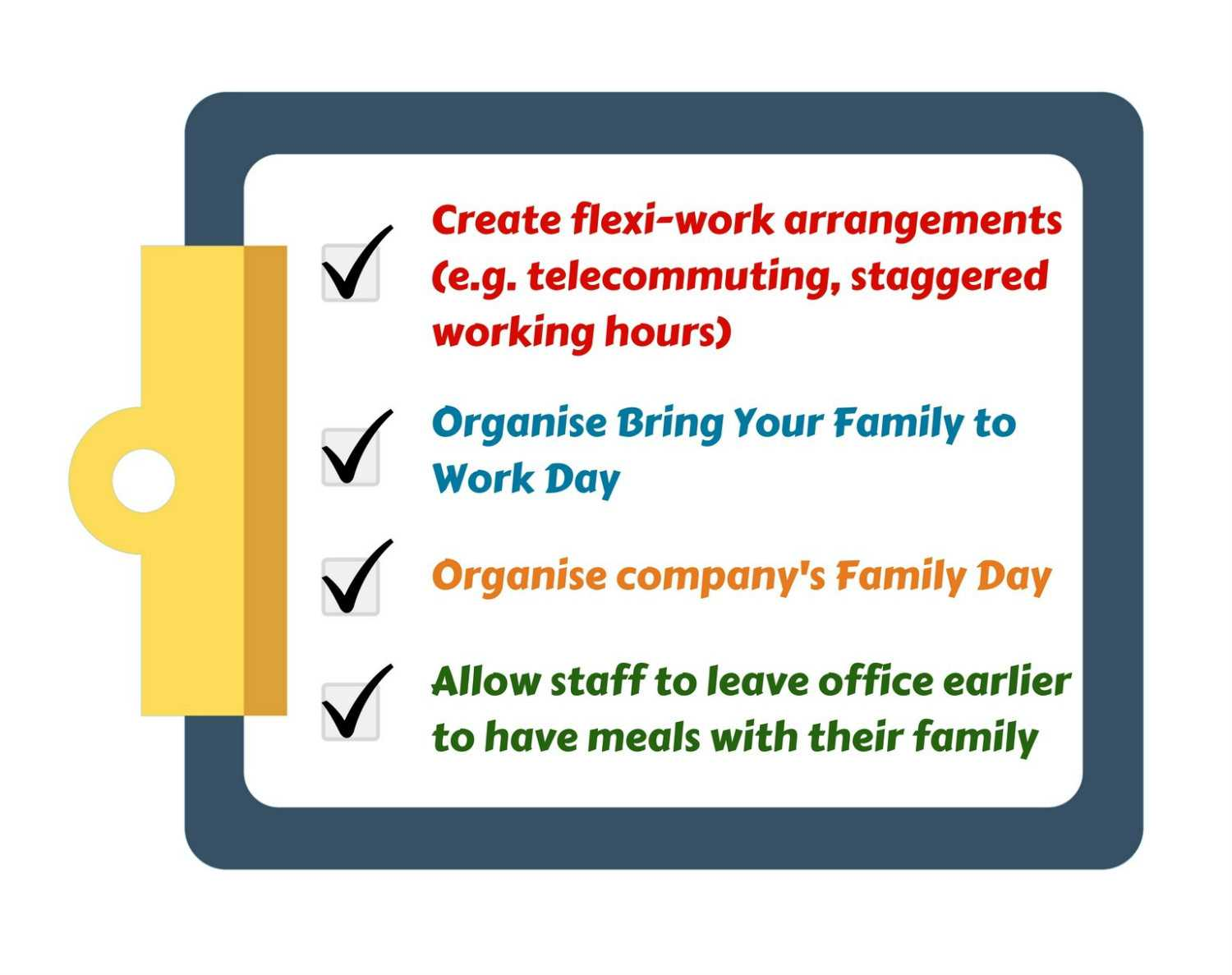 Familiy-friendly options for employer support